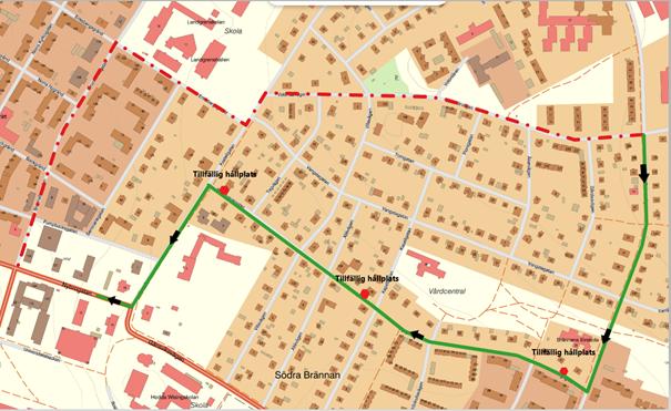 Karta linje 58
